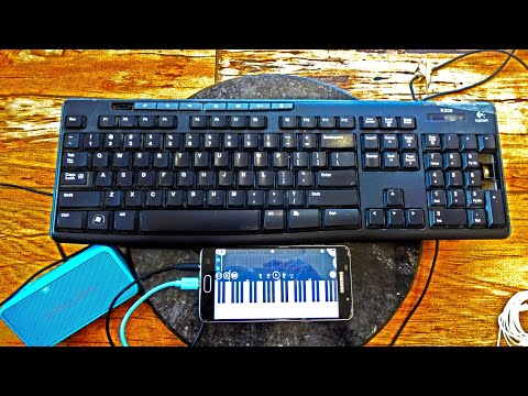 FROM COMPUTER KEYBOARD Play PIANO ON FL Studio 🌶 Android App Diy🎹 Midi Keyboard||Using Otg Cable||