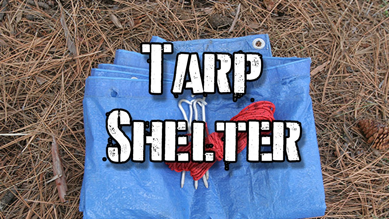 how to use a tarp for shelter