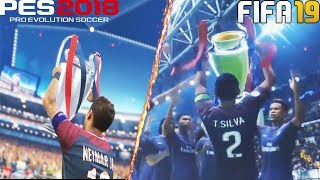 FIFA 19 vs PES 2018 | UEFA Champions League FINAL | Comparison
