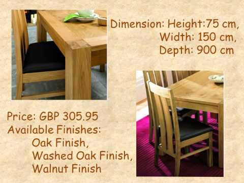 Lyon Oak 150 cm Dining Table