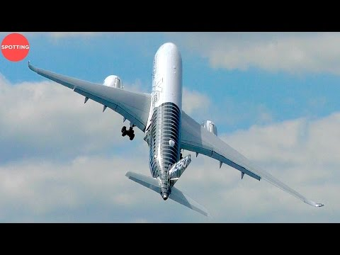 INSANE | World's Largest Airplane A380, A350 + A400 at Farnborough Airshow 2016!