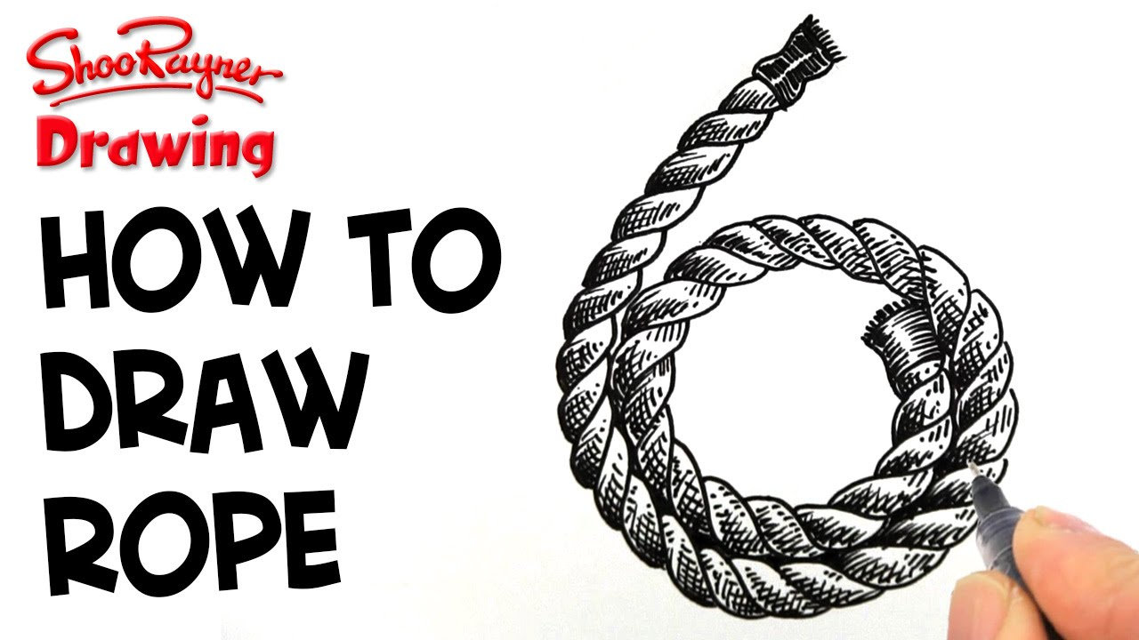 How To Draw Coiled Rope Clock Face 6 Youtube