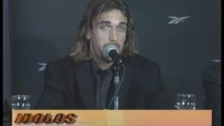 Conferencia de prensa de Batistuta tras su pase a la Roma, 2000 (fragmento)