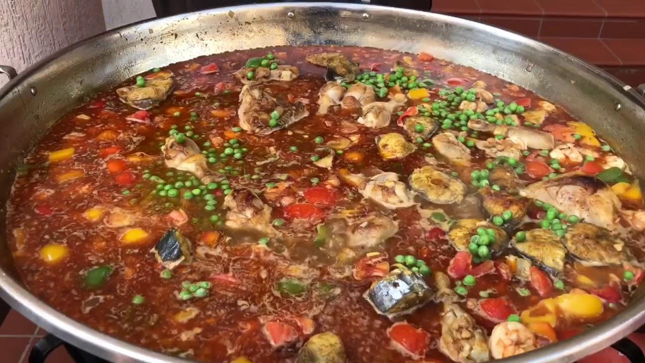 اسامه القصار البايلا الأسبانيه  how to make spanish paella