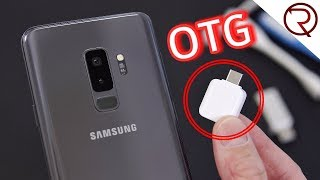 Cool things to do with an OTG connector and the Samsung Galaxy S9 Plus