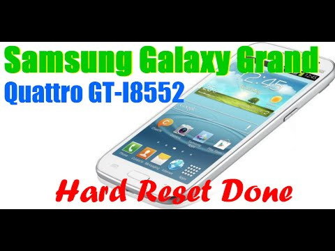 How To Hard Reset | Unlock Google Pattern Lock | Samsung Grand I8552
