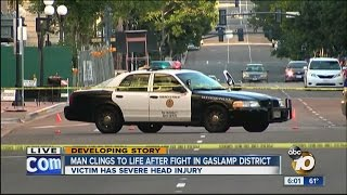 Unconscious man found after fight downtown