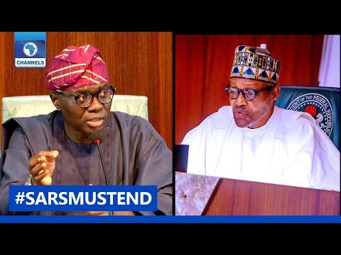 #SARSMUSTEND: Sanwo-Olu Meets Buhari On #EndSARS Demands