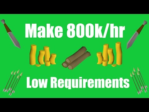 [OSRS] Make 800k/hr with Low Requirements - Oldschool Runescape Money Making Method!