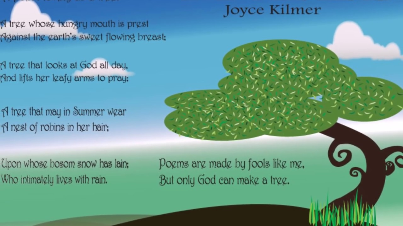 a review of the different poetry techniques used in joyce kilmers trees Joyce kilmer essay examples  literary devices used in joyce kilmer's poem trees 494 words 1 page a review of the different poetry techniques used in joyce.