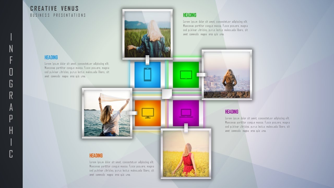 create photo collage infographic smartart for business