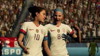 Coupe Du Monde Féminine 2019 Groupe F Etats Unis VS Chili 16 Juin 2019 Sur Fifa 19