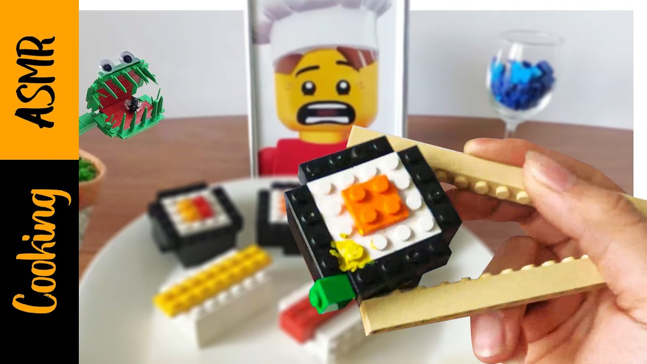 Cooking ASMR - Lego sushi for lunch - Kluna Tik mukbang 4k