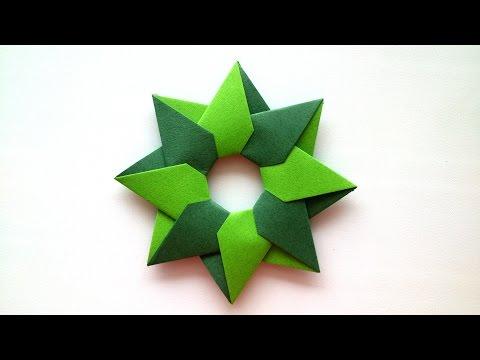 Robin Star of 8 details by Maria Sinayskaya- Origami Tutorial.