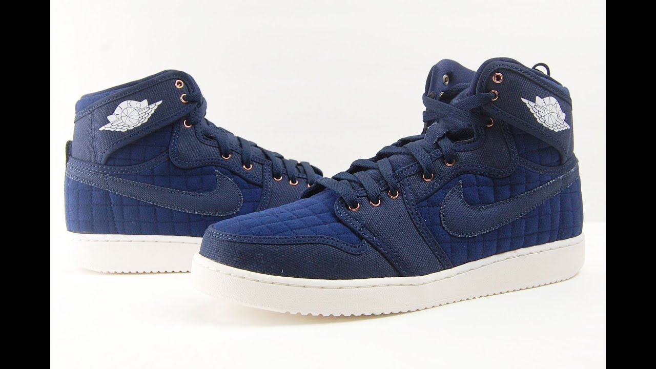 sports shoes 01923 79317 Air Jordan 1 KO High OG Blue Quilted Obsidian Review + On Feet
