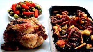 Christmas ROAST CHICKEN dinner How to prepare & cook recipe