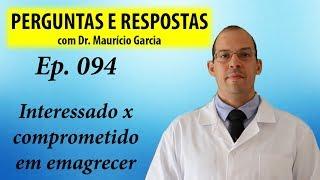 Interessado ou comprometido para emagrecer? - Perguntas e Respostas com Dr Mauricio Garcia ep 094