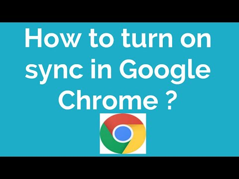 How To Turn On Sync In Google Chrome ?