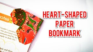 Heart shaped bookmark #heartshapedbookmark #paperfold #origami #diy #easy #papercrafts #bookmarks