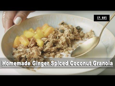 How to Make Homemade Coconut Granola (mine's gluten-free!) | **Recipe Video**