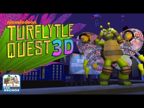 Teenage Mutant Ninja Turtles: Turflytle Quest 3D - Mikey Gliding Around New York (Gameplay)