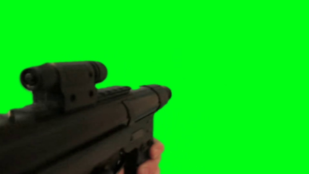 Green Screen Battlefield HK416 Shoot First Person SFX - Footage PixelBoom