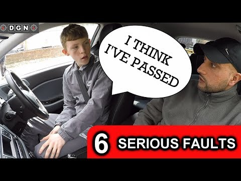 Learner Driver Fails Driving Test But Thinks He Has Passed - 6 Serious Driving Faults