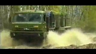 Фрагменты испытаний военной автомобильной техники