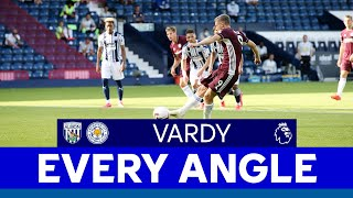 EVERY ANGLE | Jamie Vardy (first goal) vs. West Bromwich Albion | 2020/21