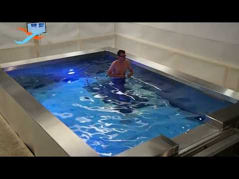 Ewac Medical Fully Featured Modular Pool Movable Swimming Pool Floor Underwater Treadmill