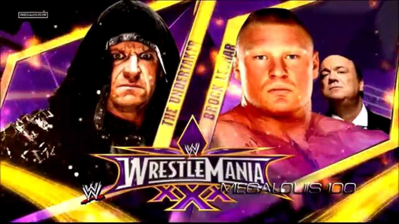WWE Wrestlemania 30 Match Card - Undertaker vs. Brock ...