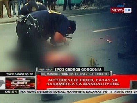 QRT: Motorcycle rider, nasawi sa karambola sa Mandaluyong
