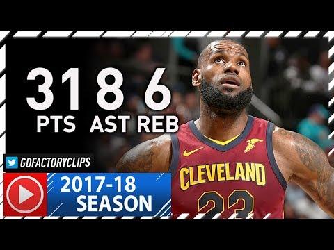 LeBron James Full Highlights vs Hornets (2017.11.15) - 31 Pts, 8 Ast, BEAST!