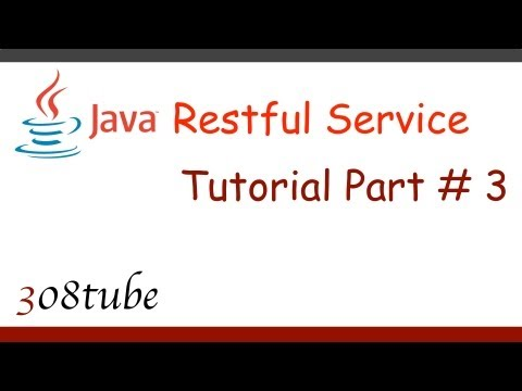 Java Restful Service Tutorial - Connect to a database - Part
