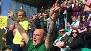 Hibs v St Mirren. Championship Party. Best fans in the World
