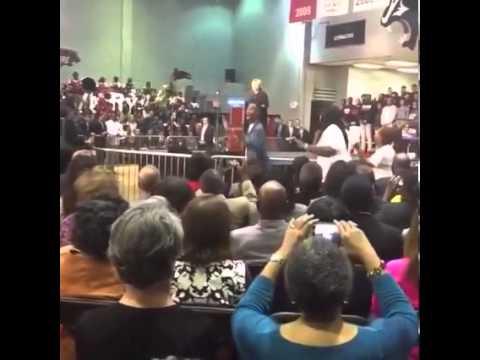 #blacklivesmatter activists interrupt Hillary Clinton while she gave a speech at #cau