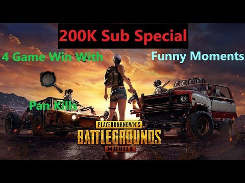 [Hindi] 200k Sub Special | 4 Chicken Dinner With Pan & Funny Moments