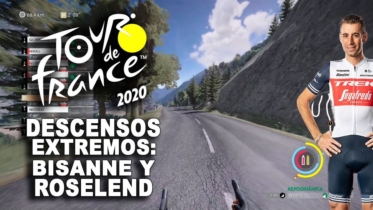 TOUR DE FRANCE 2020 Descenso extremo, Bisanne y Roselend VR_JUEGOS