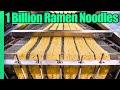 Ramen Noodle Factory Tour!! Making 1 BILLION Noodles a Year!!