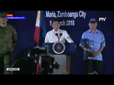 President Duterte Talk to Troops of the Western Mindanao Command in Zamboanga City