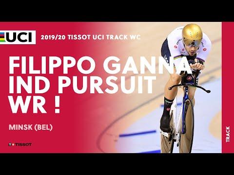4:02.647 ! Filippo Ganna's Individual Pursuit World Record In Minsk (BEL)