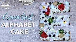 Alphabet Cake | Letter cake | Tart cake | Creme tart |  Letter cake toppers