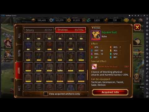 ROTK Legend Of CaoCao- All 7Star Armor + Acessory (Good Or Food)