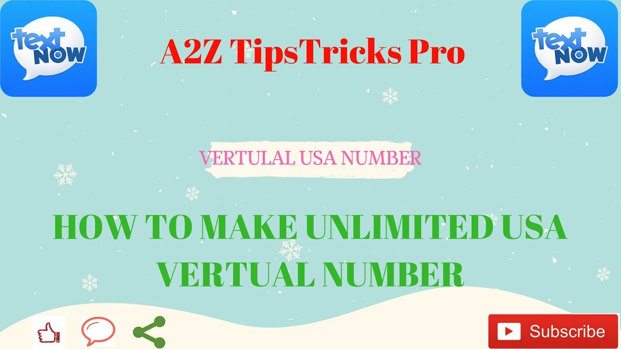 How To Make Unlimited Free USA Virtual Phone Number for text and call