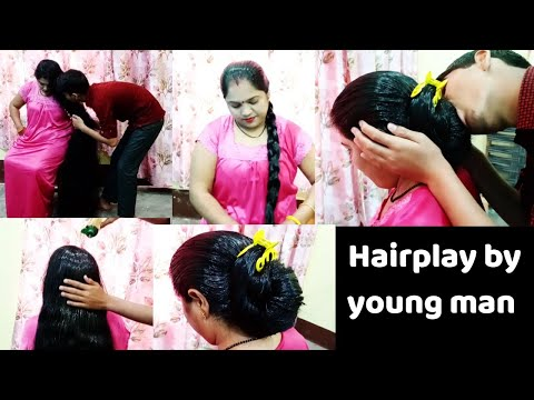 Hairplay By Youngman #pulling #smelling #sniffing #oiling #babitasgallery To buy Wtsap+91 9154004797