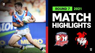 Roosters v Dragons Match Highlights   Round 7, 2021   Telstra Premiership   NRL