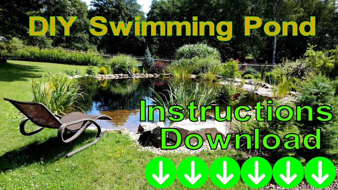 Diy Swimming Pond Youtube