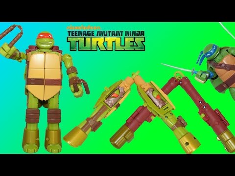 Teenage Mutant Ninja Turtles Mutations into Weapons Michelangelo in Nunchucks