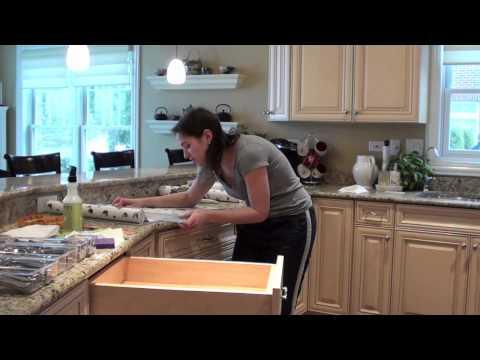 Kitchen Rejuvenation: Lining Drawers