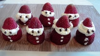 CHRISTMAS STRAWBERRY SANTA'S